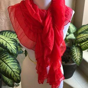 Pretty orange scarf